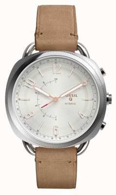 Fossil Q-Komplizen Hybrid-Smartwatch-Sandleder FTW1200