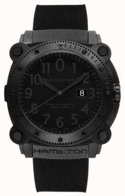 Hamilton Khaki navy underzero 1000m auto schwarzer Gummi H78585333