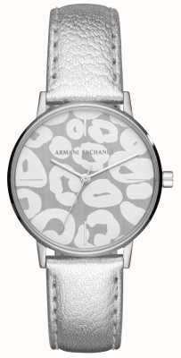 Armani Exchange Damen lola silbernes Lederband Edelstahlgehäuse AX5539