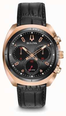 Bulova Herren Sport Curv Chronograph schwarz Leder 98A156