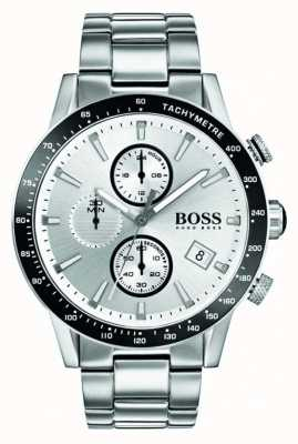 Hugo Boss Mens rafale Chronograph weißes Zifferblatt 1513511