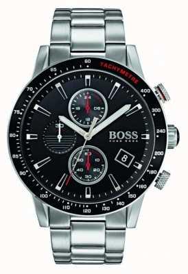 Hugo Boss Mens rafale Chronograph schwarzes Zifferblatt 1513509