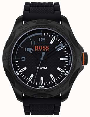 Hugo Boss Orange Herren Honolulu Uhr in schwarzem Gummi 1550032