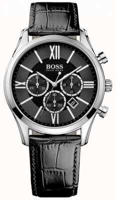 Hugo Boss Botschafter schwarzes Leder 1513194
