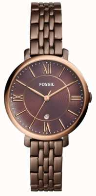 Fossil Womans jacqueline braune Edelstahluhr ES4275