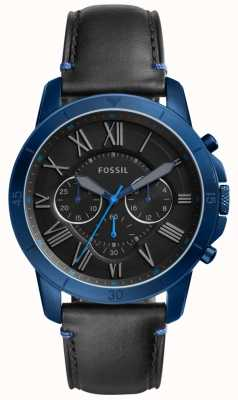 Fossil Mens Grant Chronograph schwarz und blau FS5342