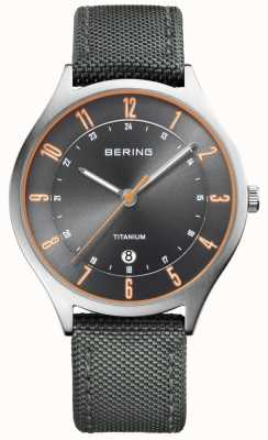Bering Herren ultraleichtes Titan Nylon grau 11739-879