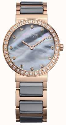 Bering Womans High-Tech-Keramik-Rosé vergoldeter Stahl 10729-769