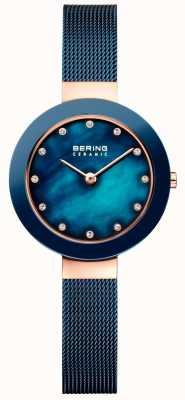 Bering Womans Keramik blau milanese Strap 11429-367