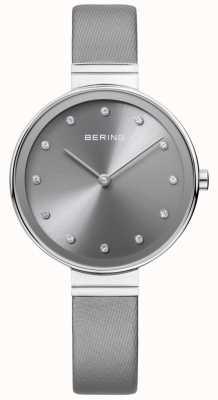 Bering Womans klassisches, schlankes Satin-Leder grau 12034-609