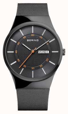 Bering Herren klassisches Multifunktions-schwarzes Mesh-Armband 12939-222