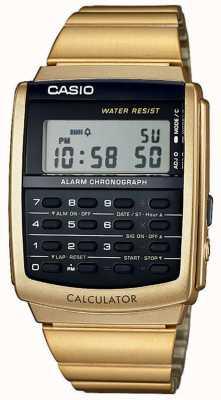 Casio Unisex Alarm Chronograph Goldton Taschenrechner Alarm Chrono CA-506G-9AEF