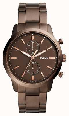 Fossil Herren Städter Chronograph braun FS5347