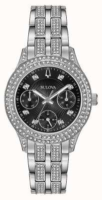 Bulova Womens Kristall schwarz Chronographenuhr 96N110