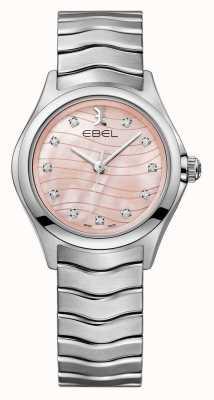 EBEL Womens Welle rosa Zifferblatt Uhr 1216268
