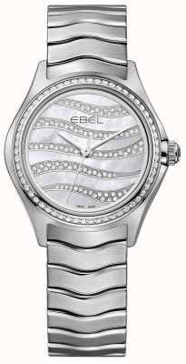 EBEL Womens Welle 94 Diamant Edelstahl Uhr 1216270