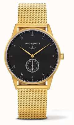 Paul Hewitt Unisex Signature Uhr | goldenes Edelstahl-Mesh-Armband PH-M1-G-B-4M