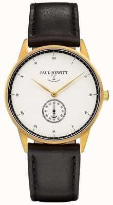 Paul Hewitt Unisex-Unterschrift schwarzes Lederband PH-M1-G-W-2M