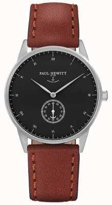 Paul Hewitt Unisex-Unterschrift braunes Lederband PH-M1-S-B-1M