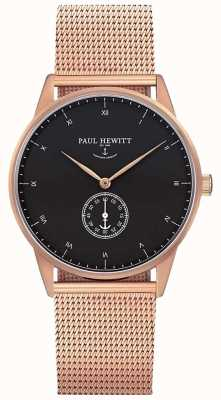 Paul Hewitt Unisex Signature Uhr | Edelstahl-Maschenband | PH-M1-R-B-4M