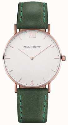 Paul Hewitt Unisex-Seemann grünes Lederband PH-SA-R-ST-W-12M