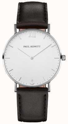 Paul Hewitt Unisex-Seemann schwarzes Lederband PH-SA-S-SM-W-2M