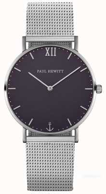 Paul Hewitt Unisex Seemann Silber Stahl Mesh Armband PH-SA-S-ST-B-4M