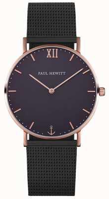 Paul Hewitt Unisex-Seemann schwarzes Mesh-Armband PH-SA-R-ST-B-5M