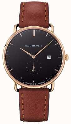 Paul Hewitt Herren das große atlantische braune Lederband PH-TGA-G-B-1M