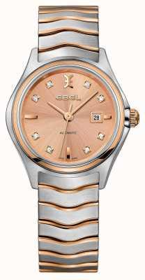 EBEL Womens Welle zwei-Ton Rose-Gold Uhr 1216328