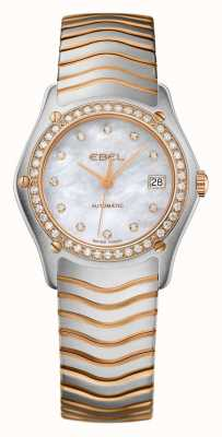 EBEL Womens Wave Diamond Set Zwei-Ton-Automatikuhr 1215928