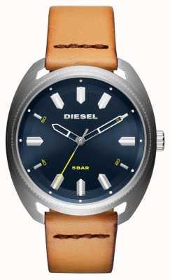 Diesel Mens Fastbak Tan Leder Uhr DZ1834