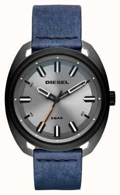 Diesel Herren Fastbak Denim-Look Lederarmband DZ1838