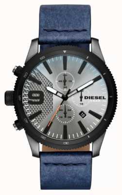Diesel Mens Raspel Chrono Denim-Look Uhr DZ4456