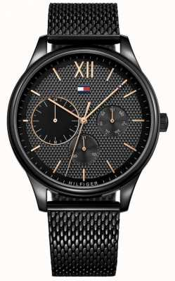 Tommy Hilfiger Damon Black IP Mesh Herrenuhr 1791420