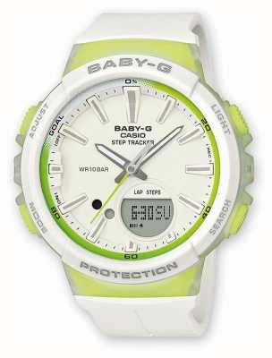 Casio Womens Baby-g Step-Tracker grün / weiß Uhr BGS-100-7A2ER