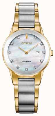 Citizen Frauen Axiom Diamant Datum zweifarbig GA1054-50D
