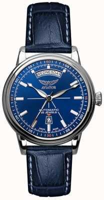Aviator Mens douglas Tag Datum Uhr blau V.3.20.0.145.4
