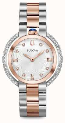 Bulova Womans rubaiyat zwei Ton Diamantuhr 98R247