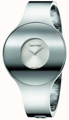 Calvin Klein Womans Silber Stahl nahtlose Uhr Medium K8C2M116