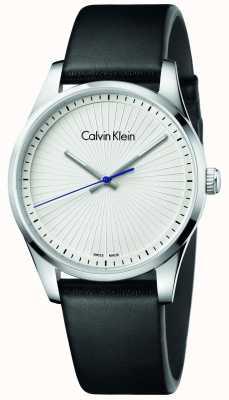 Calvin Klein Unisex Steadyfast Uhr schwarzes Leder K8S211C6