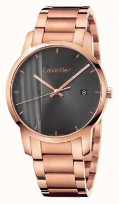 Calvin Klein Womans Rose vergoldeten Stadtuhr K2G2G643