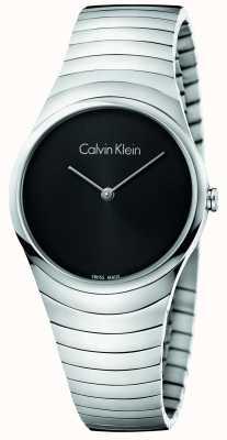 Calvin Klein Womans Silber Edelstahl Whirl Uhr K8A23141