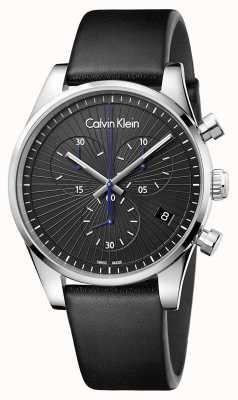 Calvin Klein Unisex standhafter Chronograph schwarz K8S271C1