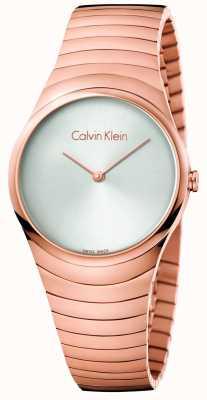 Calvin Klein Womans Rose Gold Ton Edelstahl Whirl Uhr K8A23646