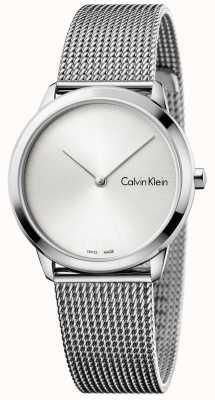 Calvin Klein Womans Minimal Uhr Silber Zifferblatt K3M221Y6