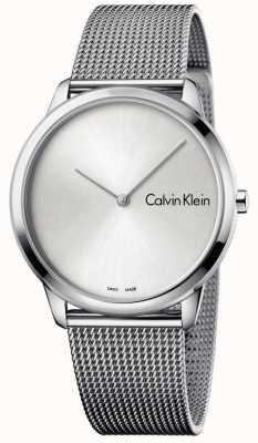 Calvin Klein Womans Minimal Uhr Silber Zifferblatt K3M211Y6