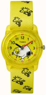 Timex Jugend-Analog-Gelb-Gurt-Holzstock-Snoopy TW2R41500JE