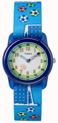 Timex Jugend analog blau Band Fußball TW7C165004E