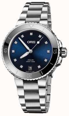 ORIS Damen Aquis Diamant Set Stahluhr 01 733 7731 4195-07 8 18 05P